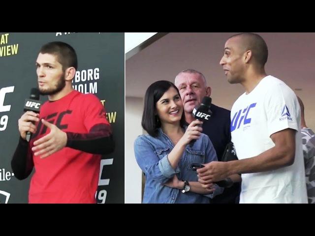 ХАБИБ VS БАРБОЗА НА UFC 219 ОТКРЫТАЯ ТРЕНИРОВКА И СЛОВА ПЕРЕД БОЕМ f b vs fh jpf yf ufc 219 jnrhsnfz nhtybhjdrf b ckjdf g