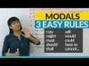 No more mistakes with MODALS 3 Easy Rules