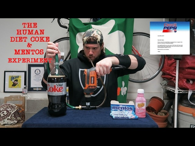 The Human Diet Coke Mentos Experiment (ft. Crystal Pepsi Release News) | L.A. BEAST