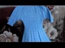 платье вязаное спицами шестиклинка