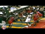Michael Jordan Very Hard Foul to David Wingate! (1996 Finals)