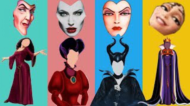 Wrong Face Maleficent Gothel Lady Tremaine Evil Queen Family Finger Song Nursery Rhymes For Kids
