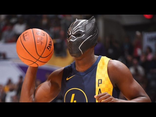 Victor Oladipo Dunk With Black Panther Mask - Slam Dunk Contest   2018 NBA All-Star Saturday Night