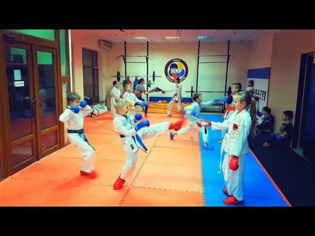 Урок спортивного каратэ для детей WKF/Karate for Children/KARATE CLUB SKIF