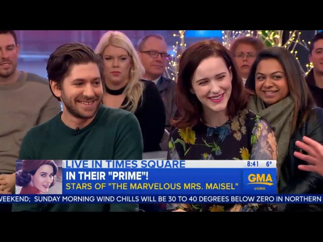 Rachel Brosnahan and Michael Zegen on GMA