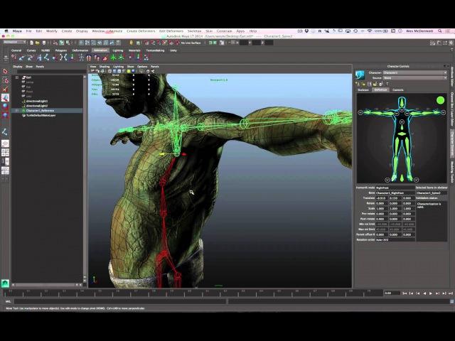 Maya LT for Unity Developers: Skeleton Creation and Adjustment -- Part 1