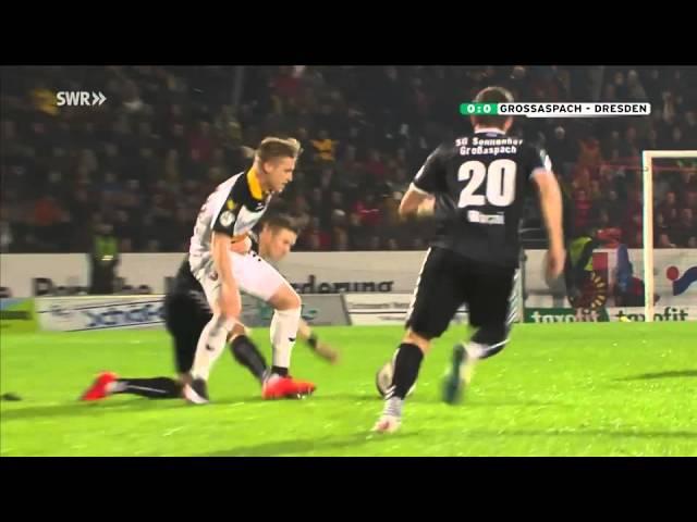 SG Sonnenhof Großaspach - SG Dynamo Dresden 0-0 (Full Match 04.12.2015)