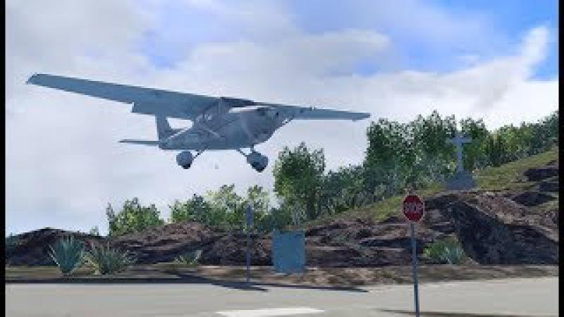 Крутой Сен-Бартелеми. Проверям Цессну на прочность. Cessna 172 S (REP) для X-Plane 11