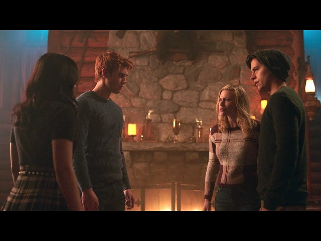 Riverdale 2x14 Betty and Jughead argue with Archie and Veronica (2018) HD
