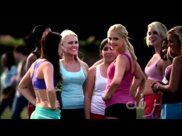 TVD 3X06 Rebekah joins cheer leading. Caroline has ago at Tyler