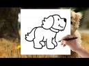 Pes - Jak nakreslit psa - Naučte se kreslit - krok za krokem