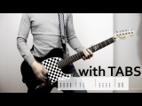 Papa Roach - American Dreams Guitar Cover wTabs on screen