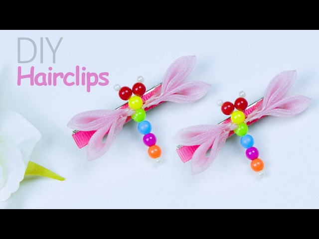 DIY children Dragonfly hair clip | Hair accessories | Kids hair clip | Beads art