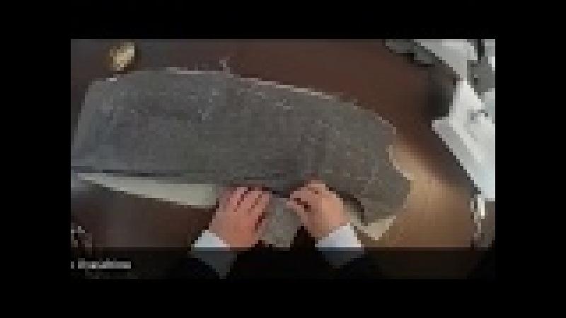 Confezionamento Giacca (con didascalie): 3- imbastire davanti con tela e impuntura del revere