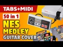 NES Medley Music from 50 Nintendo Video Games on Acoustic Guitar tabs and midi