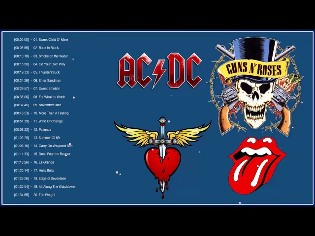 Top 100 Best Rock Songs Of All Time | Greatest Classic Rock Songs The 70's 80's 90's