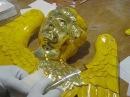 золочение херувима для храма техника потали gold leaf imitation