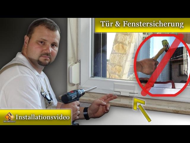 Fenster gegen Einbruch sichern Tür Fenstersicherung nachrüsten - Einbauanleitung