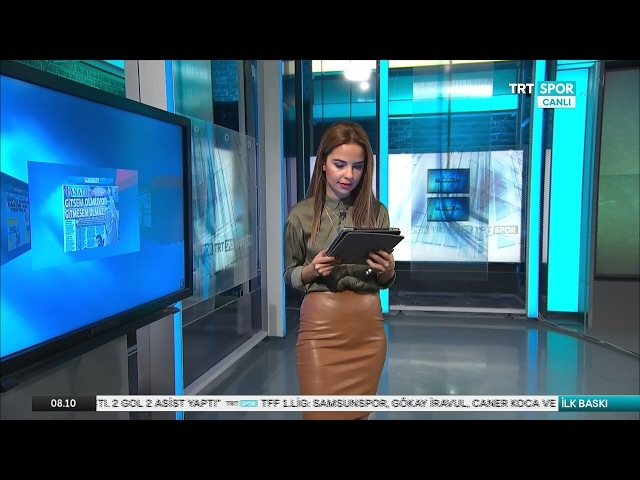 Deniz Satar in brown leather skirt - 01 02 2017