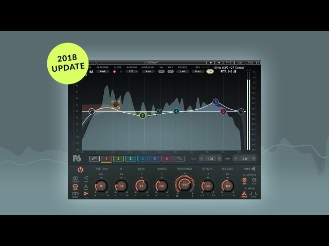 F6 Dynamic EQ Update – Now with a Real-Time Analyzer