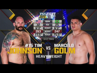 UFC FIGHT NIGHT 125 Timothy Johnson vs. Marcelo Golm