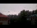 Сильный град и шторм! Поселок Солнечный.