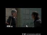 Сцена с 100го эпизода с Морганом-Тарой-Дэрилом-Кэрол