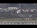Cложные посадки самолетов при боковом ветре Дюссельдорф.