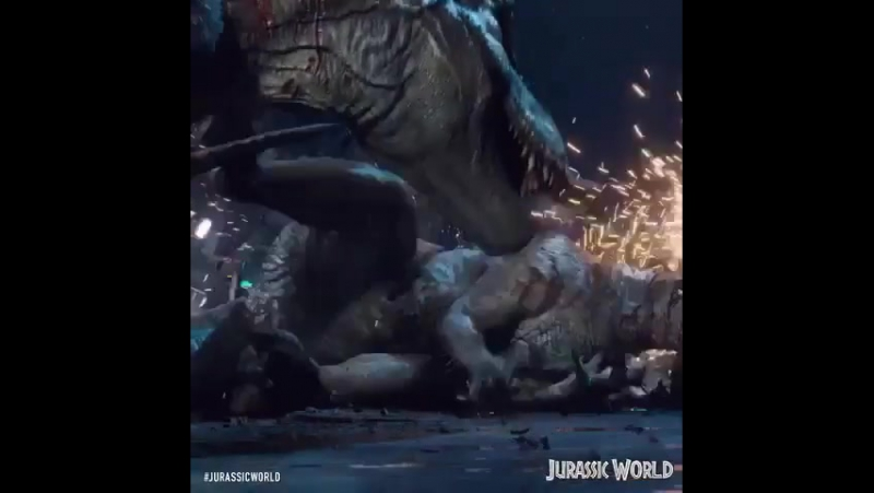 T-Rex vs. Indominus rex vs. Jurassic World
