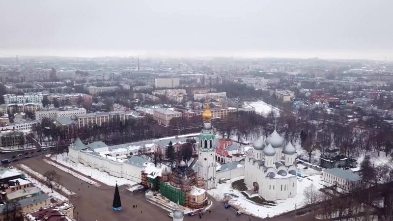 Над рекой Вологда в Вологде на DJI Mavic pro