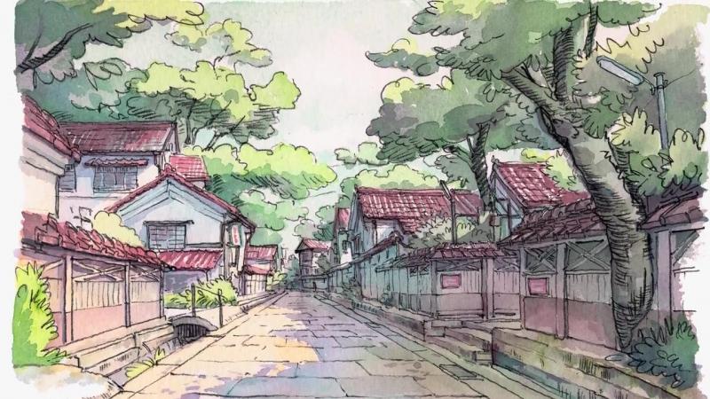 Watercolor sketch from Kanazawa