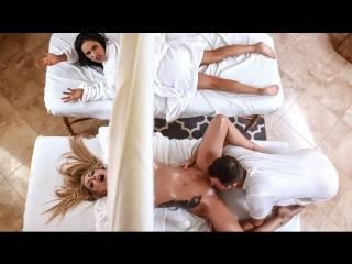 Karma Rx, Tia Cyrus - This Guy Works Wonders (Big Tits, Black Hair, Blonde, Blowjob, Latina, Massage, Threesome)