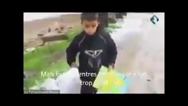 La fierté de ce petit bonhomme syrien - Février 2018