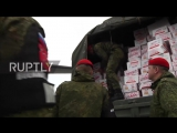 Syria_ Russian humanitarian aid lands at Khmeimim airbase for New Year