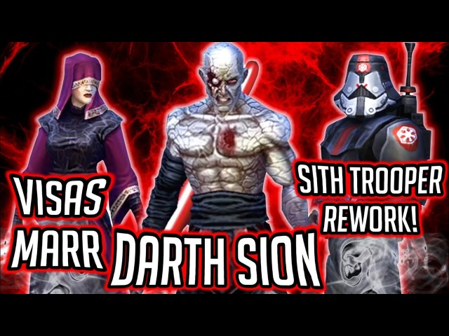 Darth Sion, Visas Marr, and Sith Trooper Rework Gameplay Unveiling! | Star Wars: Galaxy of Heroes