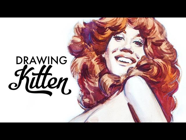 Kitten Natividad Russ Meyer's Drawing Process