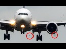 Birdstrike - BOEING 777 vs. BIRDS - B777 hits two birds during LANDING 4K