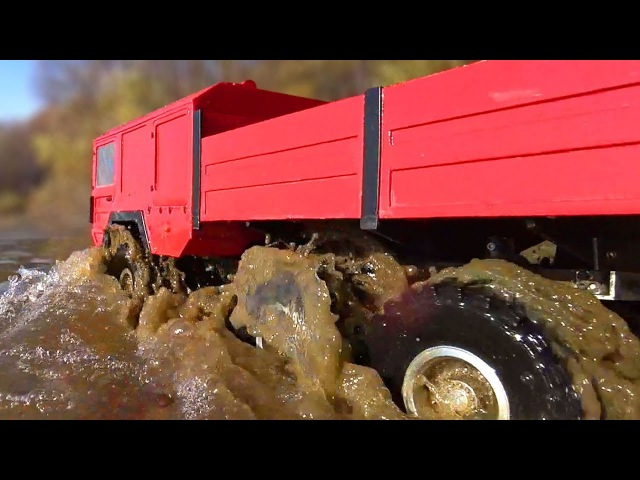 RC Trucks MUD and Water OFF Road — MAN KAT1 6x6 The Beast RC4WD, Hummer H2 4x4, Axial Wraith