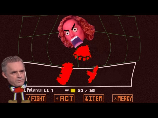 Jordan Peterson vs Cathy Newman Interview, but it's an Undertale Custom Boss Battle
