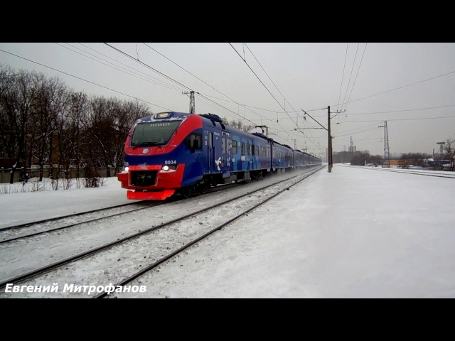 Электропоезд ЭП2Д-0034 ЦППК/РЭКС (ТЧ-17) приг. поезд № 7166/7165 ЭП20-059 (ТЧЭ-33).
