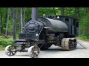 Машина монстр с паровым двигателем на гусеничном ходу