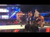 AJ styles nearly killed Sami zayn with a water bottle