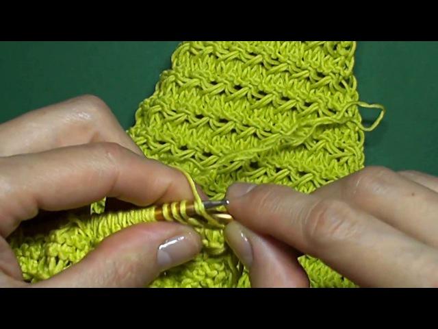 Лаймовый кардиган спицами часть 2 - Cardigan of color of a lime (part 2)