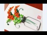 Paper Quilling Flower For beginner Learning Video 20 Paper Flower Design