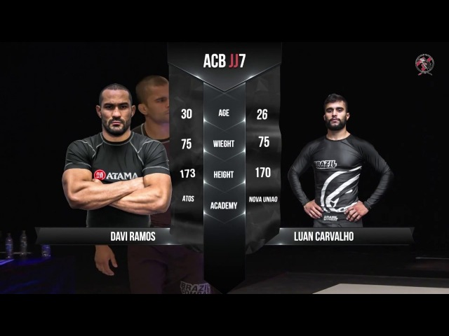 DAVI RAMOS vs LUAN CARVALHO - QUARTERFINAL - ACB JJ 7 GRAND-PRIX 75KG