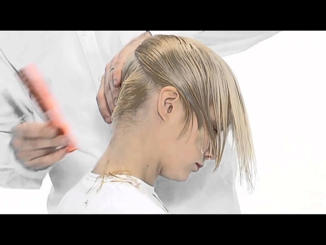 Стрижка с коротким затылком Женская стрижка на короткие волосы