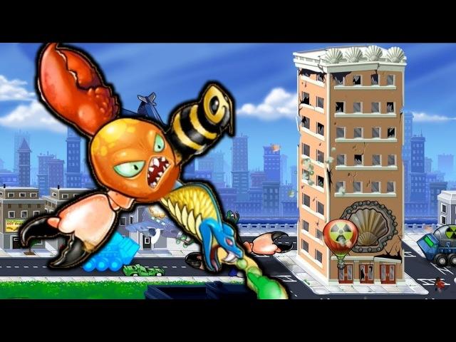 Octogeddon | Осьминог мутант напал на город | Упоротые Игры