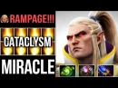 MIRACLE INVOKER CATACLYSM OMG COMBO RAMPAGE CRAZY GAMEPLAY 7 07 DOTA 2