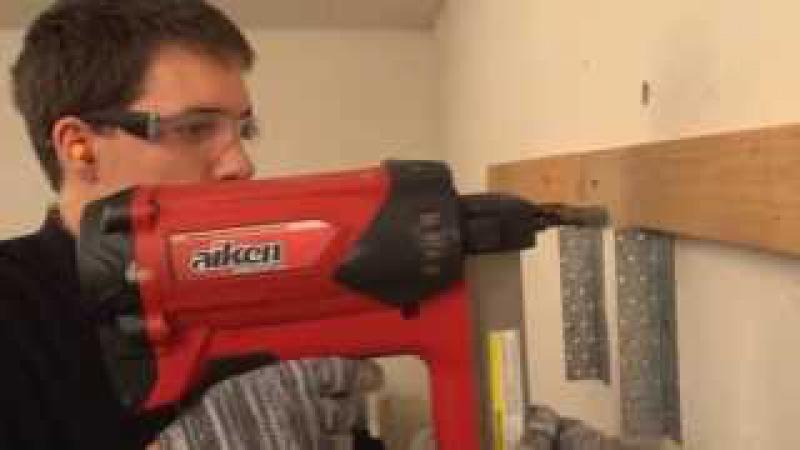 Видеоруководство по пользованию гвоздезабивными пистолетами (гвоздемётами)