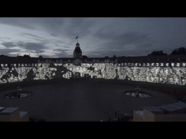 Zaha Hadid Architects showcases its digital projection skills with light show in Karlsruhe